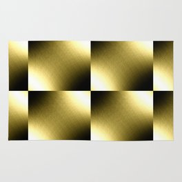 Gold Checkered Pattern Rug