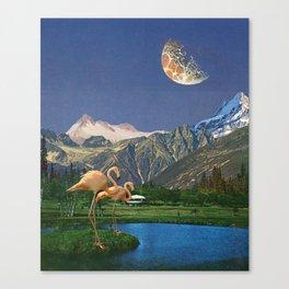 Life Is A Flamingo Canvas Print