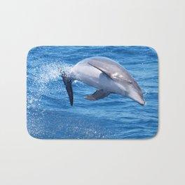 Wild bottlenose dolphin jumping off the Canary Islands Bath Mat