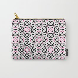 Black and Pink Tile Carry-All Pouch