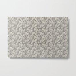 Abstract Geometrical Triangle Patterns 2 Benjamin Moore 2019 Trending Color Balboa Mist Light Pastel Metal Print