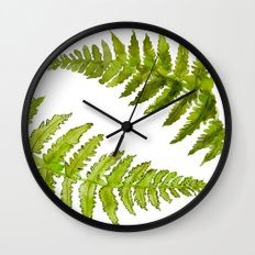 Etched Into Nature No.1 Forest Ferns Wall Clock