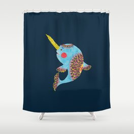 The Narwhal Shower Curtain