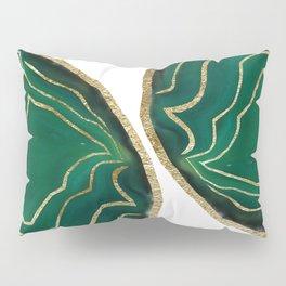 Emerald Agate Gold Glam #1 #gem #decor #art #society6 Pillow Sham