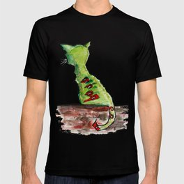 Reflective Zombie Cat T-shirt