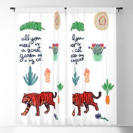 all you need is a secret garden and a big cat Blackout Curtain