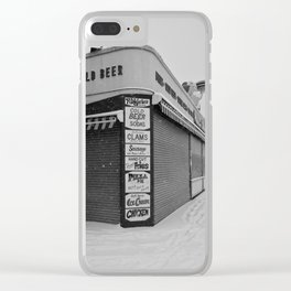 Coney Island Winter - Boardwalk Clear iPhone Case