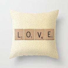 Love & Glitter Throw Pillow