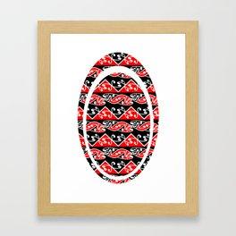 Kowhaiwhai Traditional Maori Koru Pattern Framed Art Print