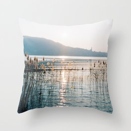 Annecy French Alps Throw Pillow