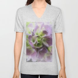 Blue Hydrangea Flower A422 Unisex V-Neck