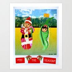 Red & Green Tidings Art Print