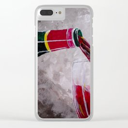 Pouring Red Clear iPhone Case