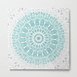 A Glittering Mandala  Metal Print