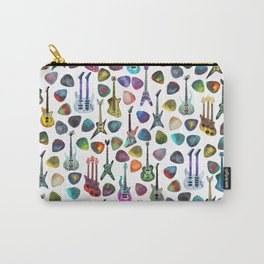 Guitars and Picks Carry-All Pouch