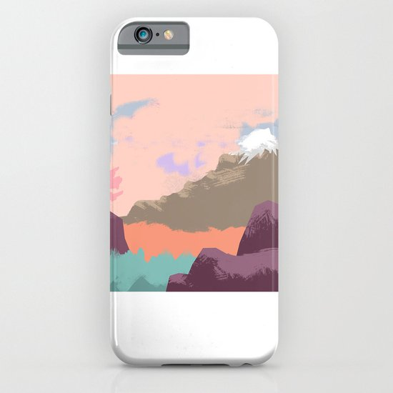 Pink Sky Mountain iPhone & iPod Case