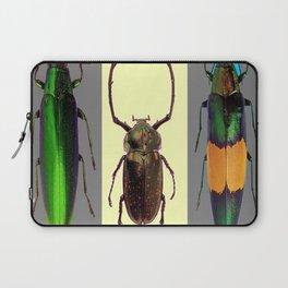 BEETLES ON CREAM & GREY  ABSTRACT ART Laptop Sleeve