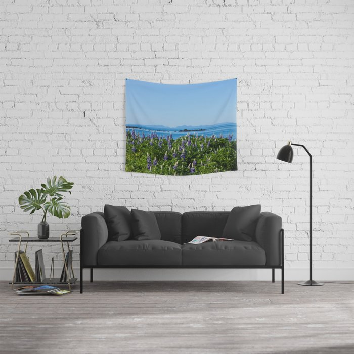 Scenic Alaskan Photography Print Wall Tapestry