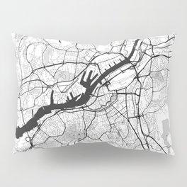 Gothenburg Map Gray Pillow Sham