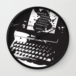 Ernest Hemingway Quote Wall Clock