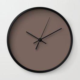 Deep Taupe Wall Clock