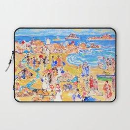 12,000pixel-500dpi - Maurice Brazil Prendergast - View along new england coast - Digital Remastered Laptop Sleeve