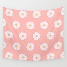 Pink Daisies  Wall Tapestry