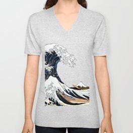 Great Wave off Kanagawa Unisex V-Neck