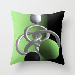 escaped -3of3- green Throw Pillow