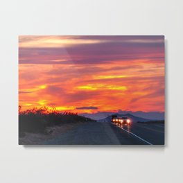 Sunset in Nevada Metal Print