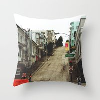 broadway Throw Pillows featuring Broadway by Laney Vela