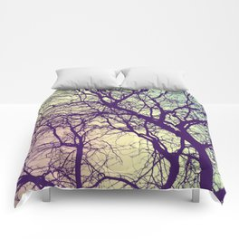 A Network of Tree Branches Comforters