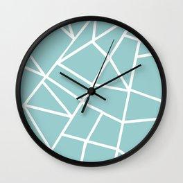 Light grayish cyanide geometric motif with lines Wall Clock