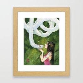 The White Snake Framed Art Print