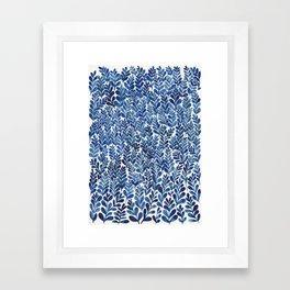 Indigo blues Framed Art Print