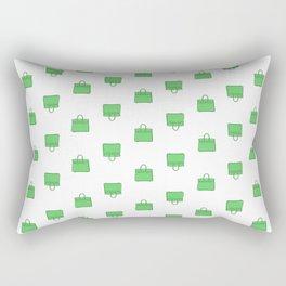 Green Birkin Vibes High Fashion Purse Illustration Rectangular Pillow