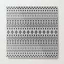 Aztec Essence Pattern Black on White by nataliepaskell
