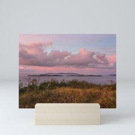 Caribbean Cotton Candy Sunset Mini Art Print