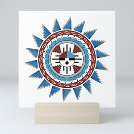 Southwest Native American Art Mandala Mini Art Print