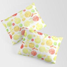 colorful citrus fruit watercolor Pillow Sham