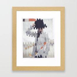 hand on hat Framed Art Print