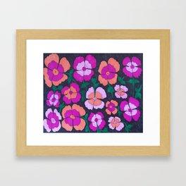 Summery Floral Garden Print Framed Art Print