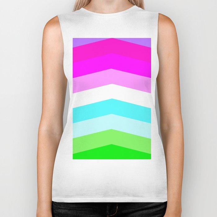 Pastel Rainbow Biker Tank