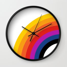 Retro Rainbow - Left Wall Clock