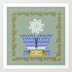 Crowned Buddha Art Print