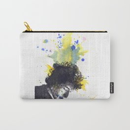 Portrait of Bob Dylan in Color Splash Carry-All Pouch