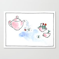 Travelling Postcard #3 - A cup of tea ? Canvas Print