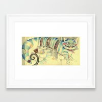 cheshire cat Framed Art Prints featuring Cheshire Cat by Lady Orlando