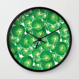 Mallow Leaves Wall Clock