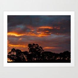 Tasmania Sunset Art Print